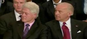 Bill Clinton and Joe Biden
