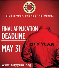 City Year app deadline - May 31