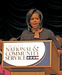 Michelle Obama speaking last week