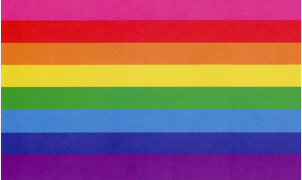 Gay Pride 8-colors Flag by Stonewall Veteran<br> Gilbert Baker