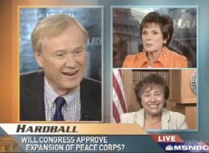 RPCV Chris Matthew, RPCV Maureen Orth, and Rep. Nita Lowey on Hardball