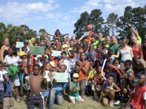 University students at Theewaterskloof International Community Development Project in South Africa design service projects addressing community needs.