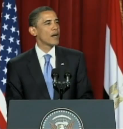 President Obama speaking in Cairo