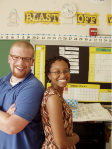 Brittorf (left) and Tiffany Watson are teachers with the Inner City Teaching Corps of Chicago