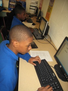 Comer Students Using Computers